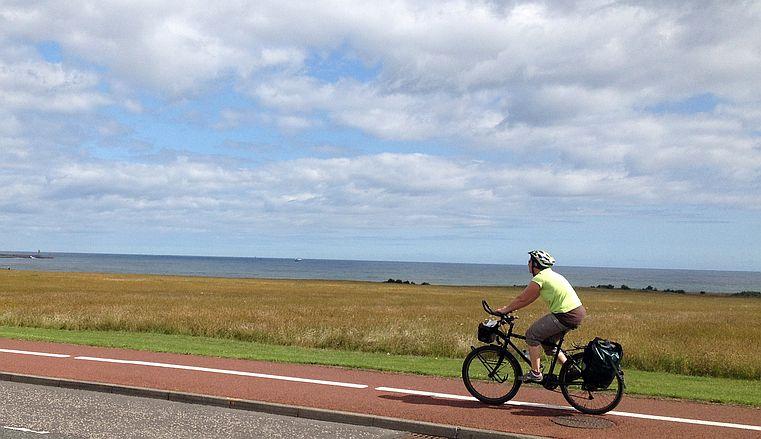 Fahrradweg auf der A 183 bei South Shields