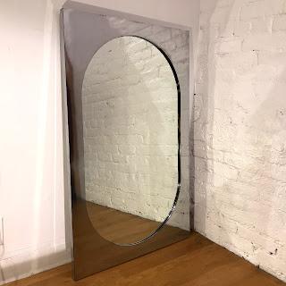 Contemporary Silver Framed Mirror