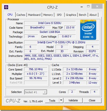 cpu z i5 5200u