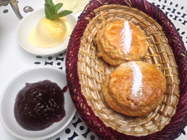 scones and jam served at Momo London
