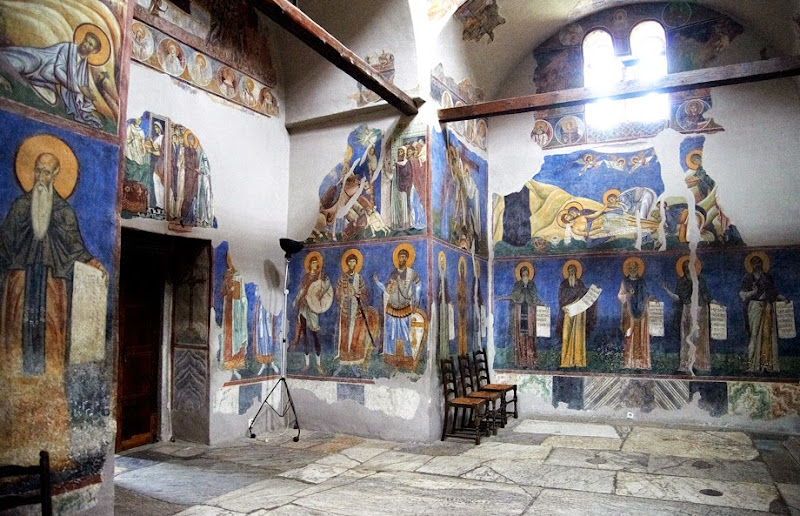17. Byzantine frescoes. The Church of St. Panteleimon in Gorno Nerezi. XII Century