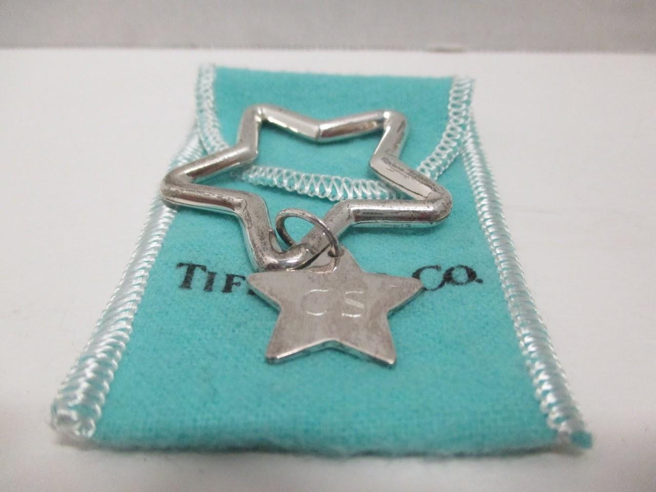 Tiffany & Co. Sterling Star Keychain