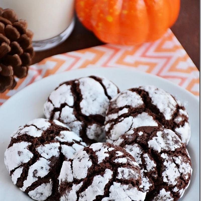 Chocolate crinkles / chocolate crinkles cookies -Halloween recipes