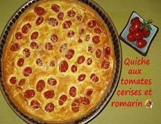 Recette de la Quiche aux tomates cerises et romarin