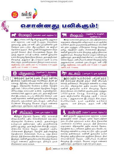 Tamil Rasi Palan October 2015