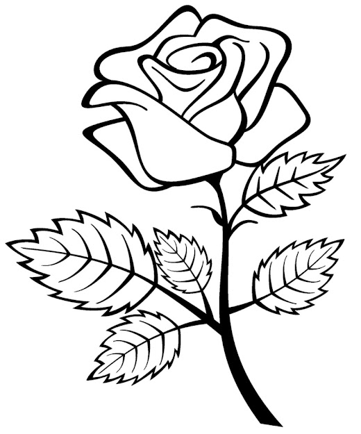 Free Printable Roses Coloring Pages For Kids On Coloring Roses Pages