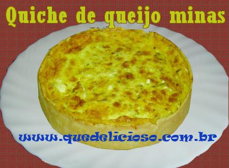 Quiche de queijo minas