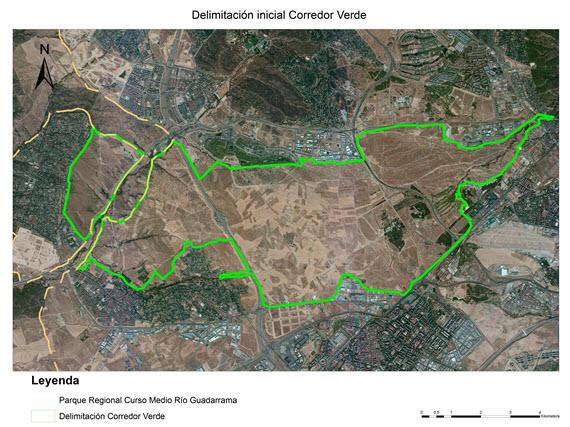 Un corredor ecológico que una la Casa de Campo con el curso medio del río Guadarrama
