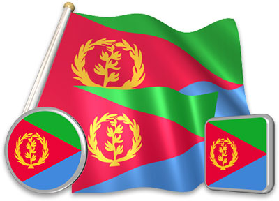 Eritrean flag animated gif collection