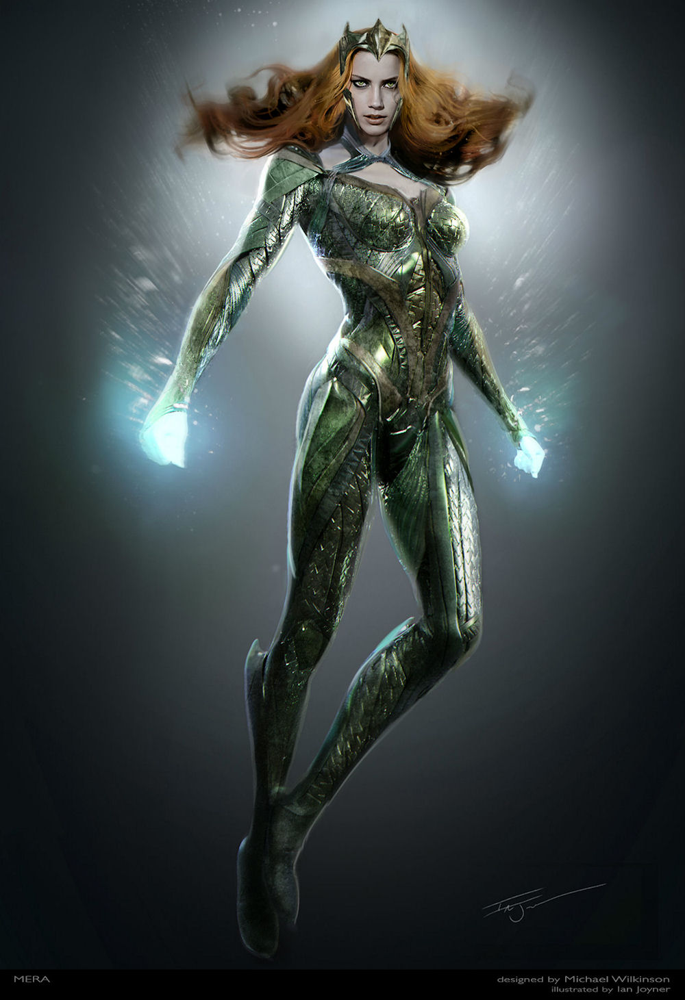 Concept art for Mera's costume. (Photo designed by Michael Wilkinson / courtesy of Warner Bros. Pictures & DC Comics)