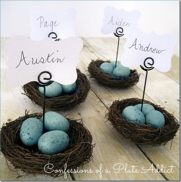 CONFESSIONS OF A PLATE ADDICT Pottery Barn Inspired Nest Place Card Holder