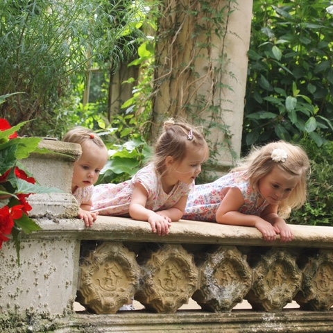 Siblings project, watching the fish together at castle ashby