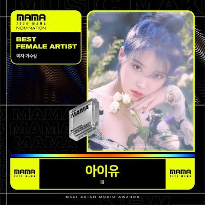 [THEQOO]MAMA 2020: En iyi kadın sanatçı & En iyi erkek sanatçı ödül adayları