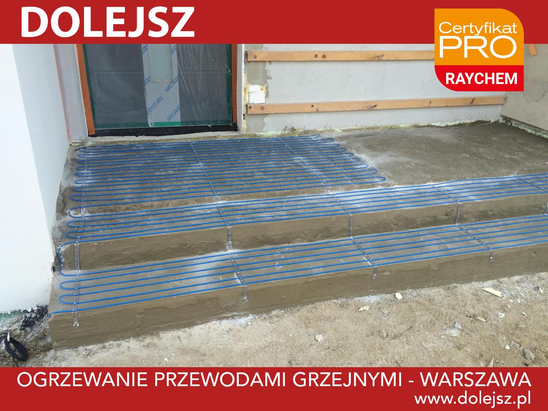 Podgrzewane schody montaż Warszawa