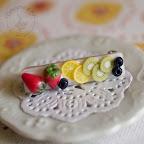 Mixed Fruit Brooch