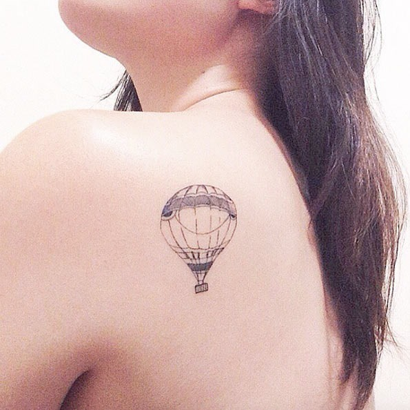 Este simples balão de ar quente