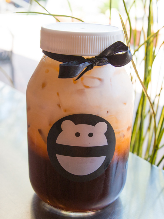 photo of a jar filled with Thai Tea
