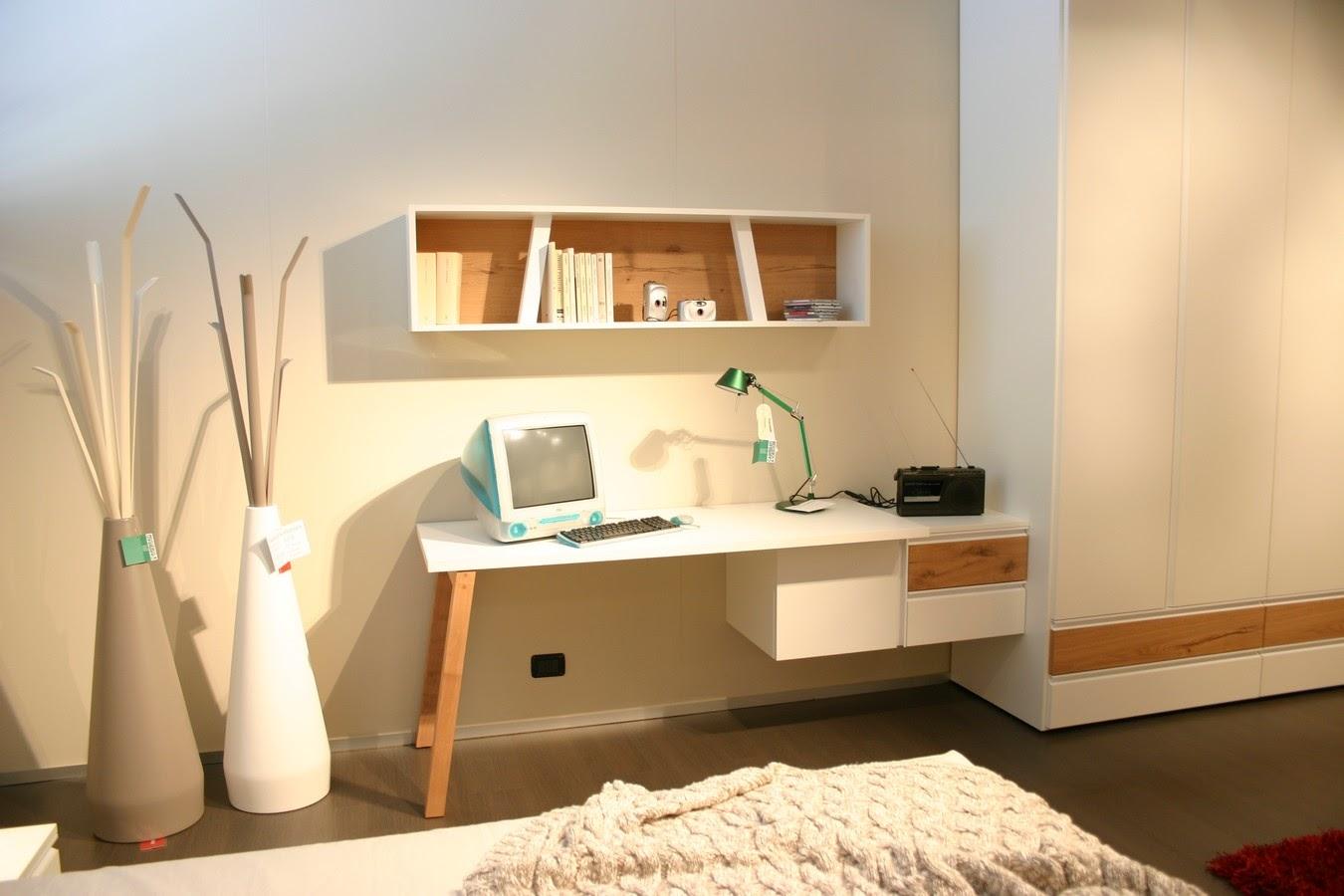 Mensole sopra scrivania hw83 pineglen - Mensole camera da letto ...