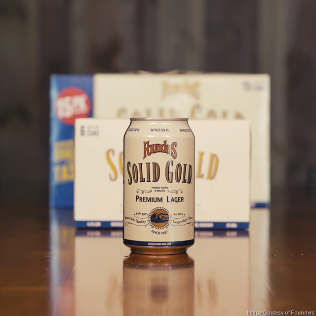 Founders Brewing Releasing Solid Gold Year-Round