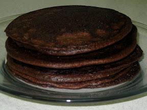 Dark Chocolate Strawberry Pancakes