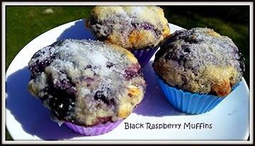 ~ Black Raspberry Muffins ~ Recipe