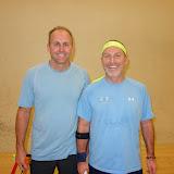 Men 50+ winner Scott Poirier and semifinalist Doug Steinberg