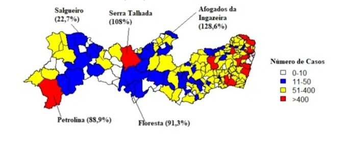 Afogados da Ingazeira é o município de PE com maior crescimento em casos de Covid-19, diz estudo