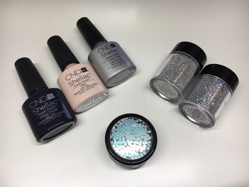 liverpoollashes liverpool lashes festive navy nails nail of the day cnd shellac indigo frock inglot circles discs lecente silver holographic multi glitz glitter fireworks spark beau