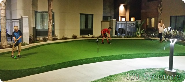 putting green homewood suites disneyland