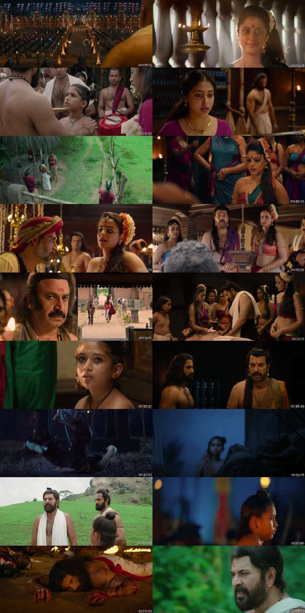 Screen Shot Of Mamangam 2019 300MB Full Movie Hindi Dubbed Free Download 480P BRRip Small Size PC Movie