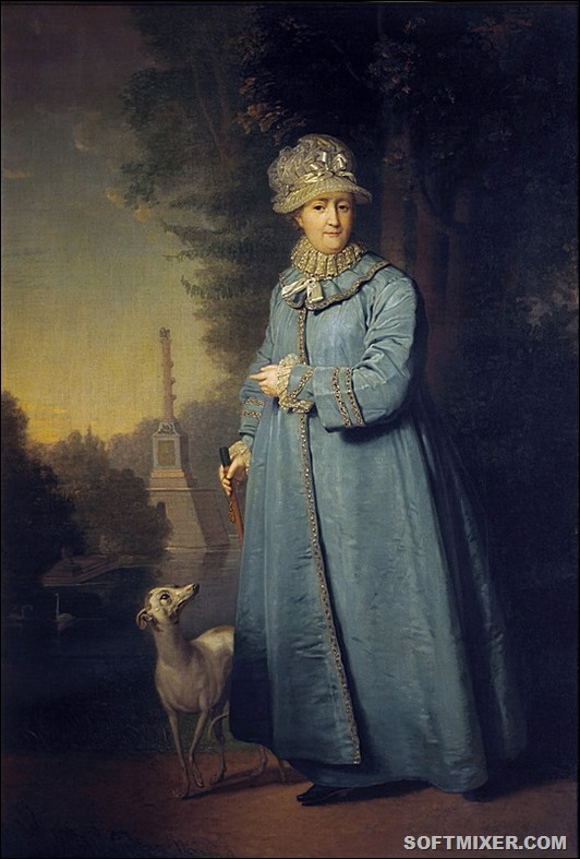Catherine_II_walking_by_V.Borovikovskiy_(1794,_Tretyakov_gallery)