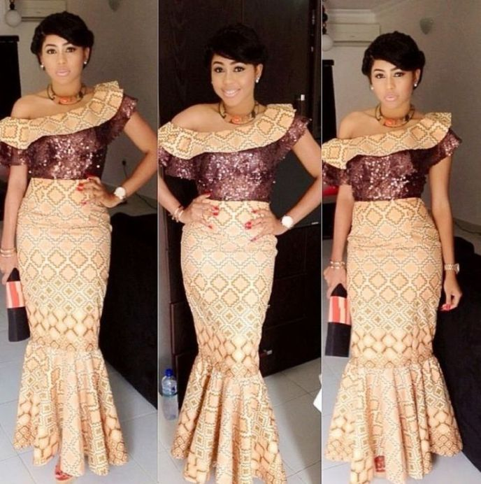 Photos of traditional African wedding dresses 2017 - Styles Art