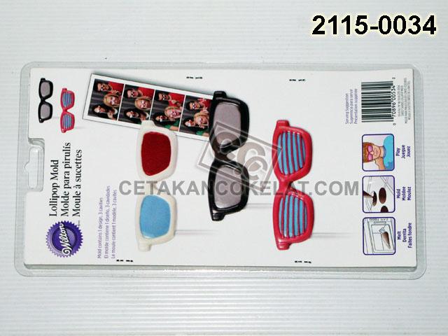 2115-0034  Cetakan Coklat cokelat Wilton Kacamata lolipop lollipop lolypop glasses