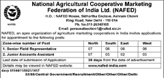 NAFED Advertisement 2016 www.indgovtjobs.in