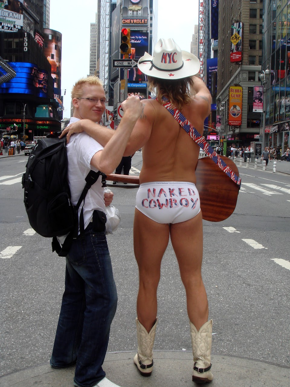 ... naked cowboy in New York City, New York, United States