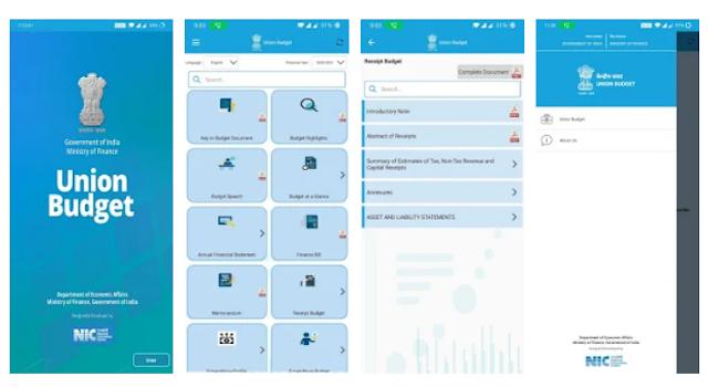 Union Budget 2021 mobile app