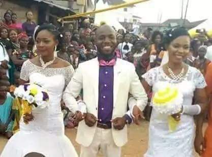 PHOTOS: Man Marries two wives,Same day Same time!!