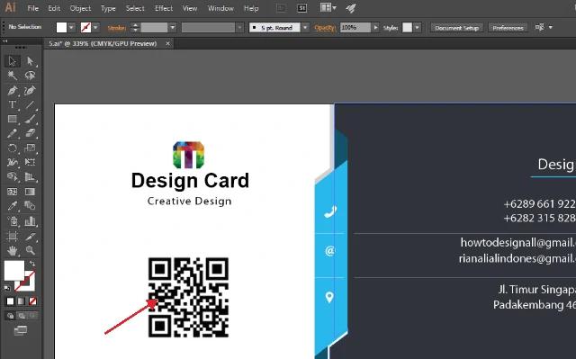 Download Desain Kartu Nama Dengan Adobe Illustrator