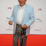 WWW.ENTSIMAGES.COM -     Sir Stirling Moss  arriving     at       Jaguar XE - World premiere and  Global launch party at Earls Court Exhibition Centre, London September 8th 2014Jaguar premieres its new Jaguar XE car to press and VIPs                                               Photo Mobis Photos/OIC 0203 174 1069
