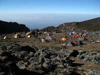 Kili Climb Day 4 - Wicked views from camp