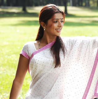 Bhumika Chawala in White Saree Photo