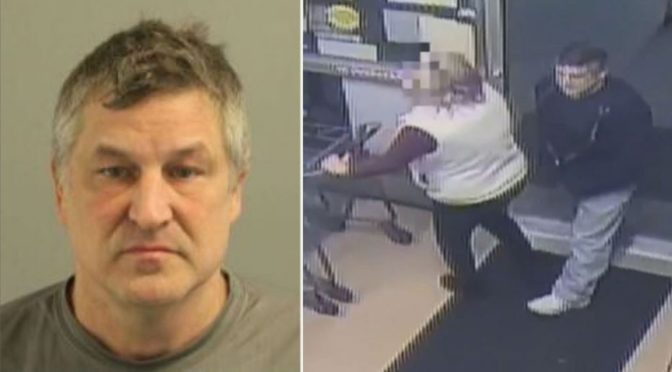 Pervert who stabbed woman with semen-filled syringe in supermarket jailed for 10 years