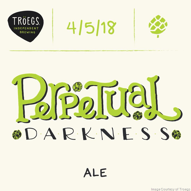 Troegs Releasing Perpetual Darkness Ale 4/15