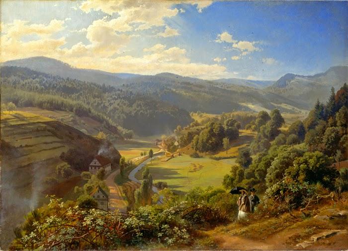 Johann Wilhelm Schirmer - Das Geroldsauer Tal bei Baden-Baden