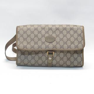 Gucci Vintage Monogram Canvas Shoulder Bag