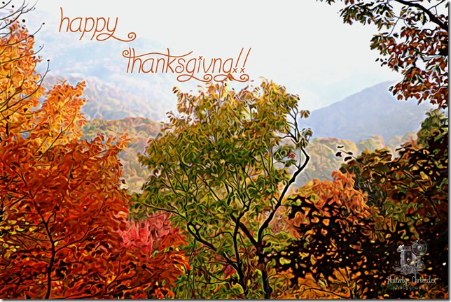 Happy Thanksgiving (copyright Jenny @ Flutterbye Chronicles)