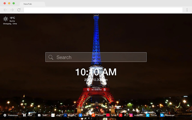 Eiffel Tower HD Architecture New Tabs Theme