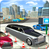 Limousine Parkplatz Platzfahrt Simulation