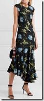 Topshop Unique Printed Midi Dress