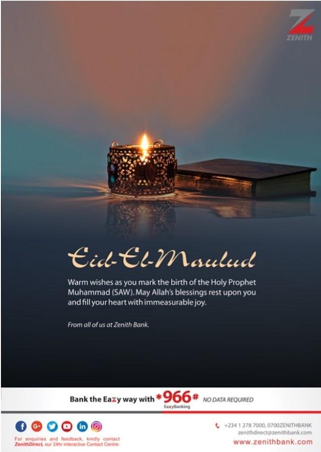 Happy Eid-El-maulud From Zenith Bank
